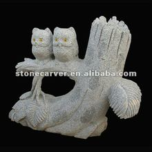 Granite Owl Stone Sculpture