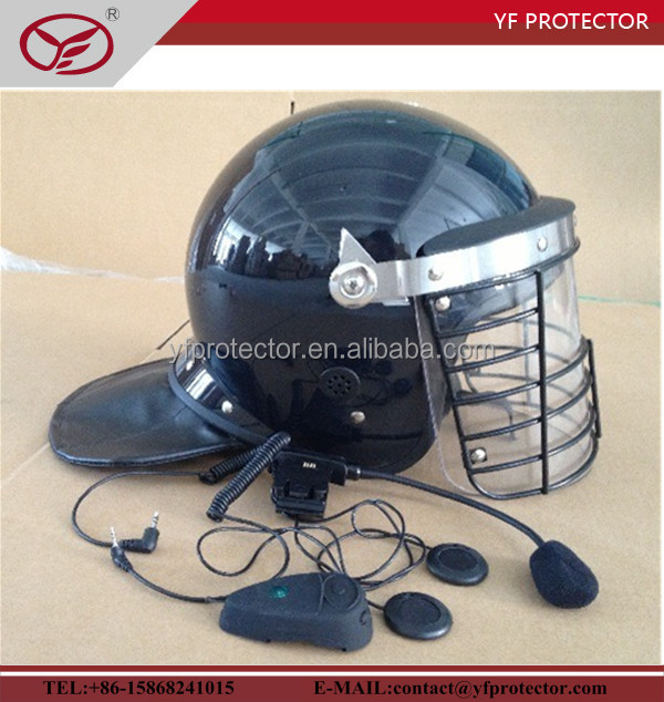 top choice cheap police party helmet with interphone system