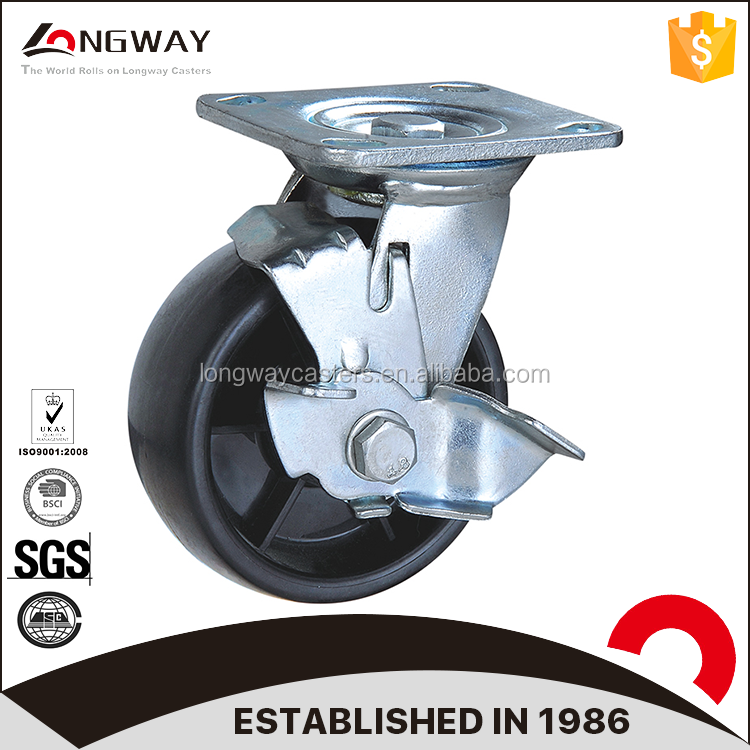 4-8 inch size heavy duty 200-280 kg load weight leveling caster wheels