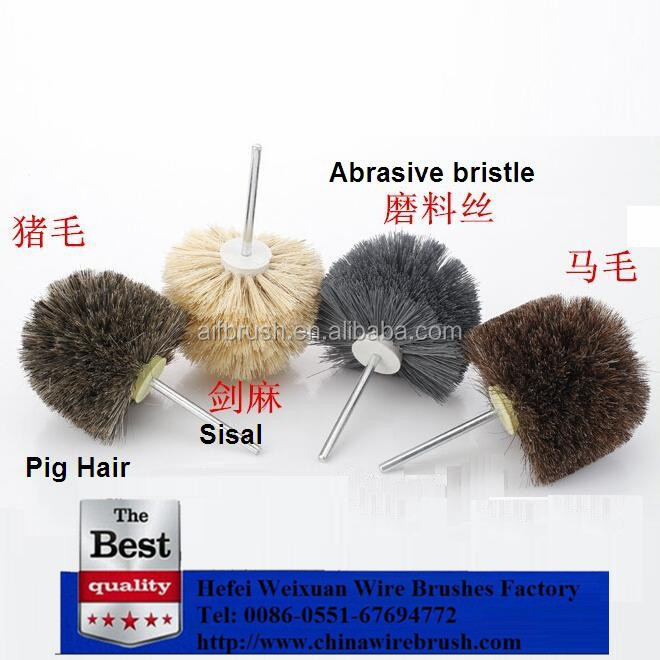 Hot selling Grinding Wheel Nylon Bristle Brush for Wood Polishing