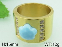Clear Crystal Light Blue Cat Eye Stone Fashion Ring Jewelry Stainless Steel Indian Gold Ring