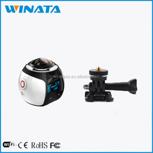 Top rated pretty apperance 4k resolution wifi support underwater mini 360 cameras for extreme sports