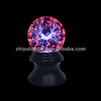 6 inch glass plasma ball light with butterfly for home lighting decoration