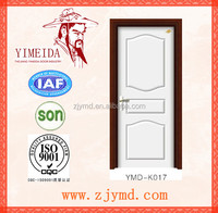 China popular white lacquer mdf wooden door models for interior