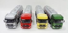 Hot selling 4 colors oil tanker diecast oil truck model on stock for wholesale
