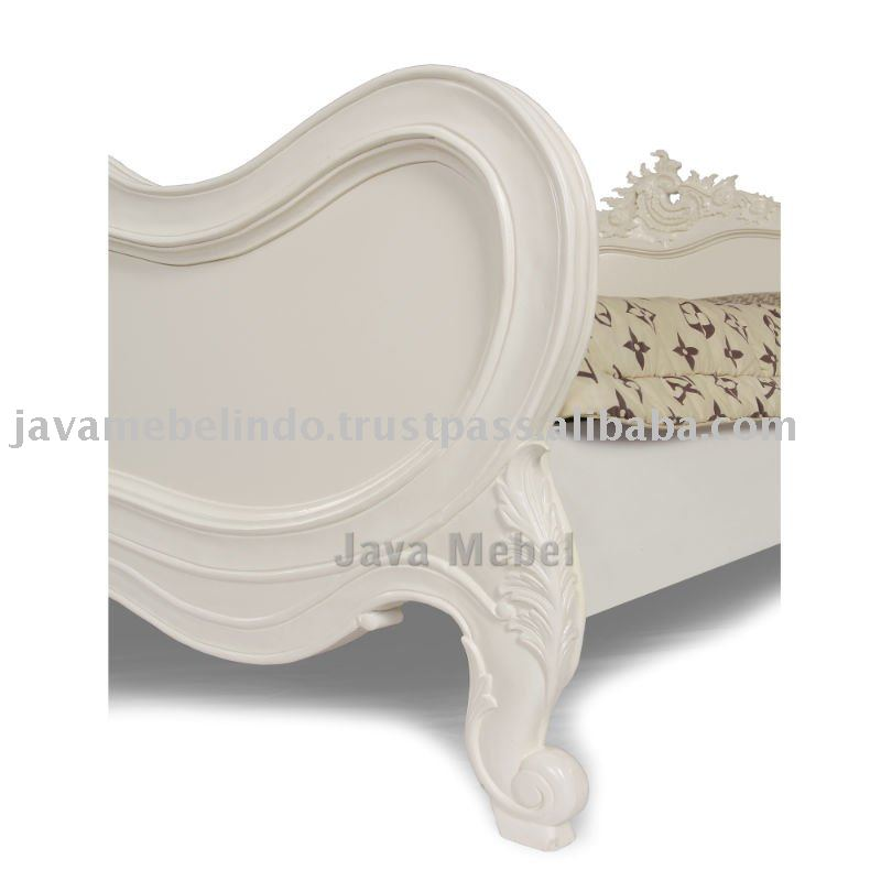 FRENCH STYLE FURNITURE OF DETAIL COMPLETE PANEL CARVED BED QUEEN 2