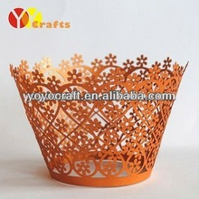 Popular Wedding Cake Accessories Laser Cutting Cupcake Wrappers from YOYO crafts