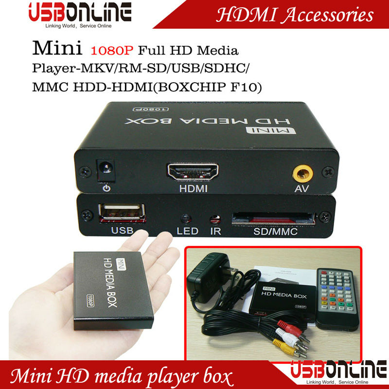 Mini HDMI USB SD Media Player with Autoplay 1080P Full HD advertising Player