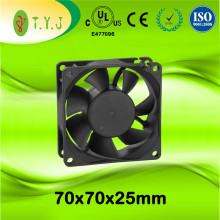 High rpm 12v dc fan 70mm H2O pressure
