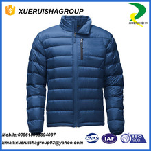 Alibaba hot selling colorful ultra light leather goose down jacket
