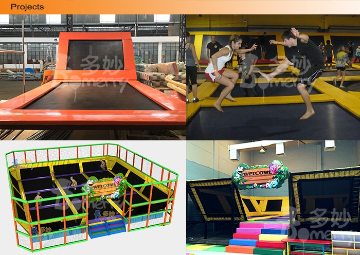 Domerry newest design manufacture indoor soft trampoline playground