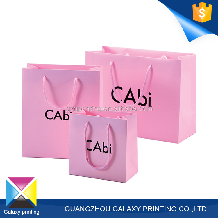 Professional OEM/ODM printing manufacturer pink flour packaging bag shopping paper bag
