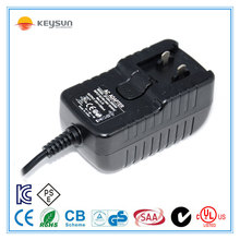 12V1000mA interchangeable plug adapter/interchangeable plug adaptor 12v /12v 1000ma ac dc power supply