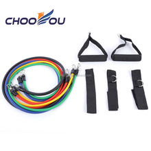 11 Pcs resistance band set with door anchor, handles , ankle straps