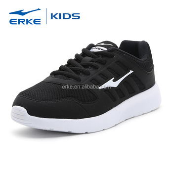 wholesale 2017 summer comfortable mesh black white simple ERKE brand kids sports shoes