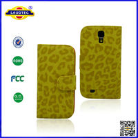 New Stylish Leopard PU Leather Flip Wallet Case with Card Holder and Stand For Samsung Galaxy S4 Laudtec