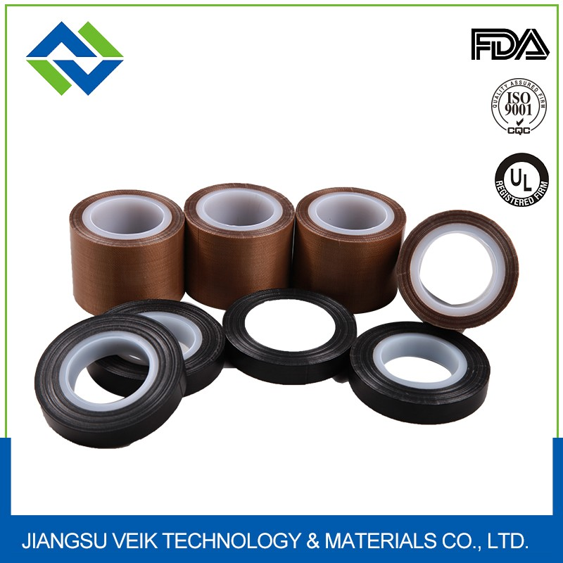 Adhesive tape Teflon coated glass fiber hot resistant non stick for packing insulation