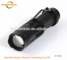Best Price SK68 C ree XP-E Q5300Lumen Convex Lens LED Flashlight (1*AA/1*14500)
