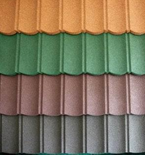 Excellent quality hot selling sand covered metal roofing tiles
