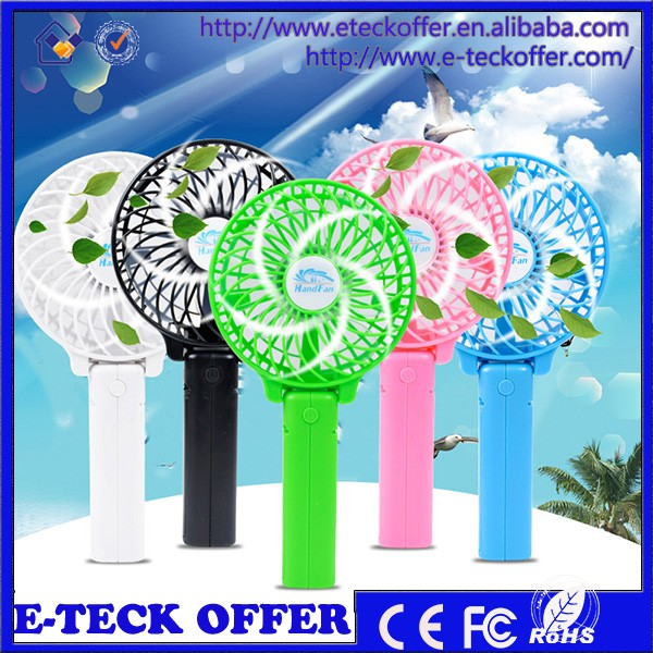 Original Cooler Mini Portable Table Electrical USB Fan Hand Held USB and Battery Rechargeable Fan