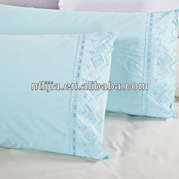 100%cotton pillow case embroidery designs
