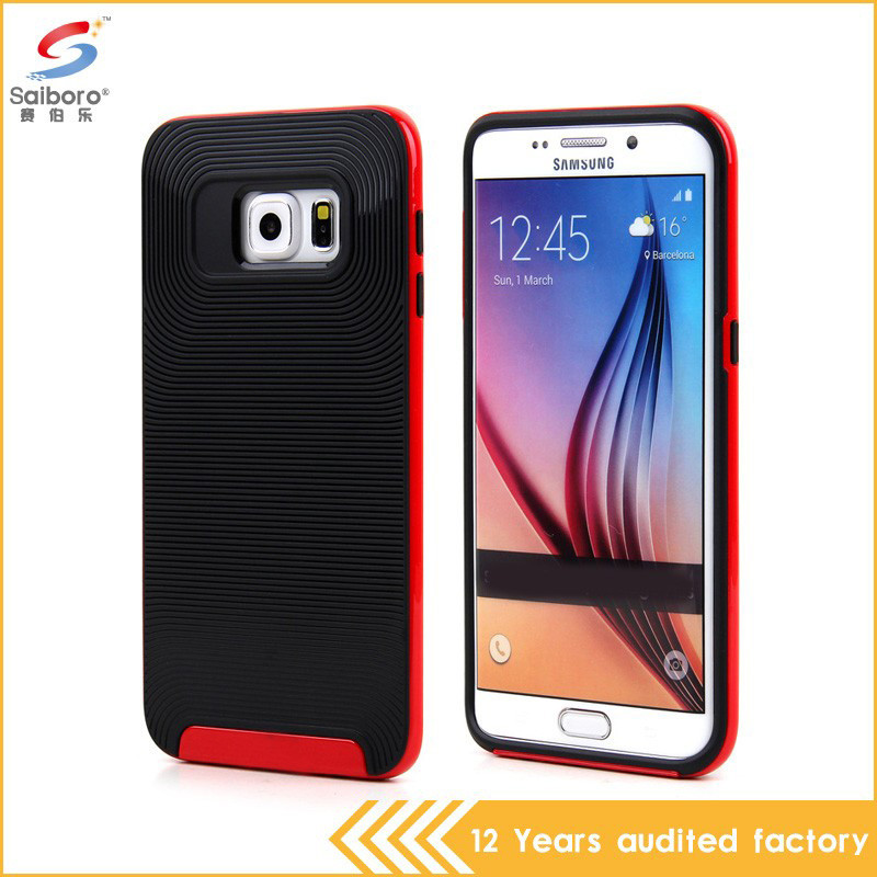 Best selling protective tpu pc phone case for samsung s6 edge plus 2 in 1 armor case
