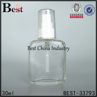 30ml unique flat shaped new products cylindrical glass container