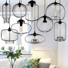 Portable environmental gleaming glass pendant lamp