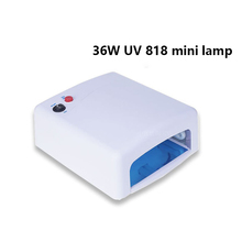 Hot sale 36w 120s white pink nail uv curing lamp 818 EU PLUG nail dryer light