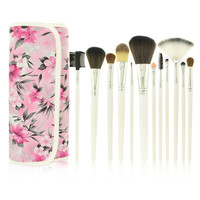 Wholesale professional makeup 12pcs brush set,makeup brush set 12 piece
