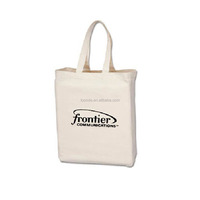 Natural color screen printing foldable shopping cotton bag with
