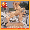 antique red stone horse statue for white brass building