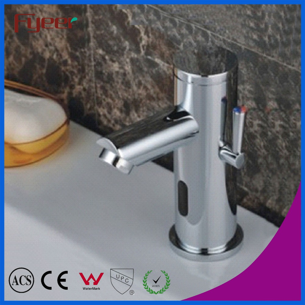 Fyeer Fashion Design Single Handle Cold and Hot Water Bathroom Automatic Sensor Basin Faucet