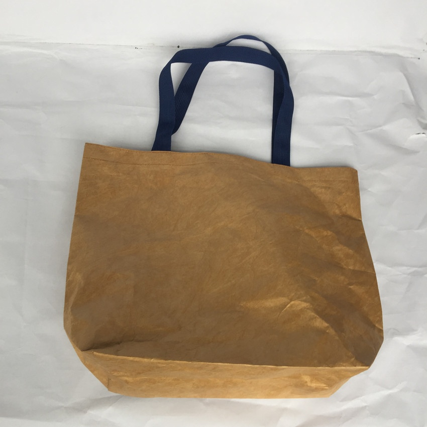 Popular Large Wholesale Durable Zip Lock Women Tyvek Paper Handbags Custom Logo Tote Bags