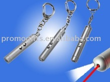 Free sample KC015 2-in-1 red laser pointer with keychain