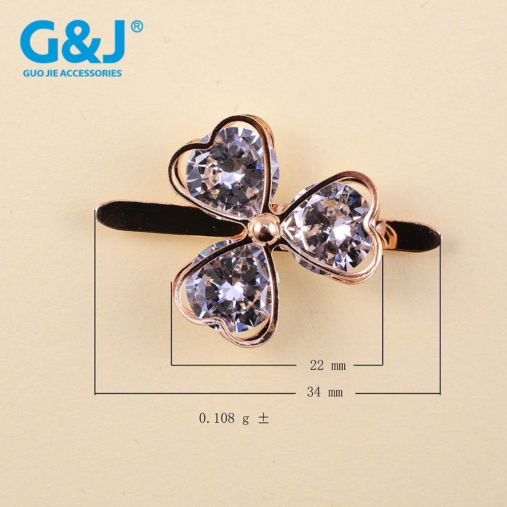 Ultimo accesorios mujer new desgin grape China zircon shoe buckles