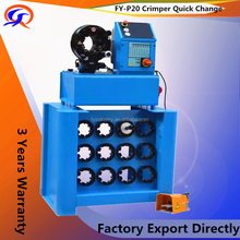 FY-P20 CE 1/4''-2'' 12sets free dies automatic finn power hydraulic tube crimping machine /hose crimper with quick change tool