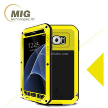Alibaba for Samsung S7 original Love Mei brand tri protect powerful Al metal shockproof case with front tempered glass protector