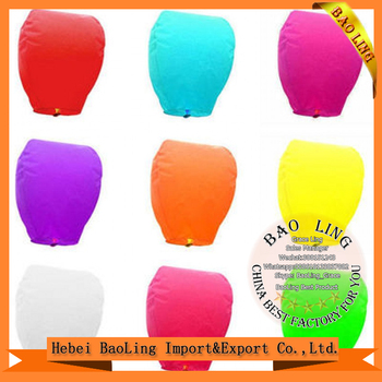 Heart shape Wholesale Flying Chinese manufacturers sky lanterns Cheap Biodegradable Kongming Lantern