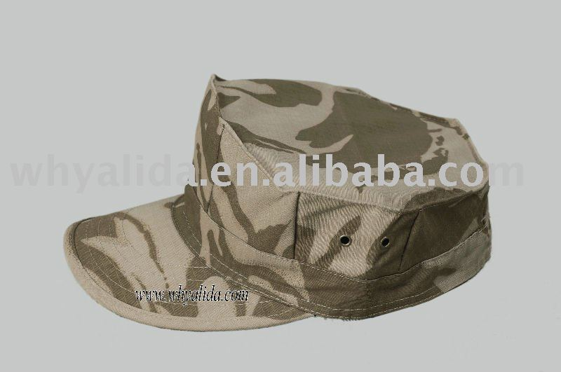 T/C 65/35 Twill/Ripstop Camouflage Military British Army Ocean Garrison Cap