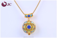 2016 Different Types of Gold Chain Necklace Jewelry Essential Oil Diffuser Locket Designs