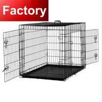 high quality welding spiral hinge folding stackable dog cage