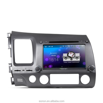 EONON GA8172 for Honda Civic Android 7.1 2GB RAM 8 Inch Multimedia Car DVD GPS with Mutual Control EasyConnection