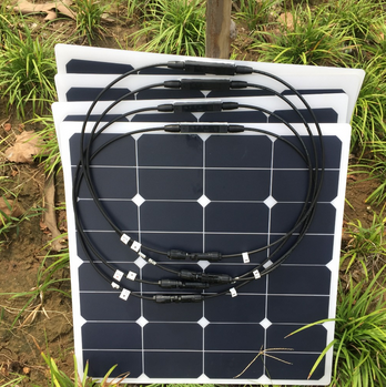 Semi flexible solar panel 100w 50w for air conditioner battery pack