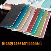 New Fashion dot view case for iphone 6 plus glossy design candy color 5s also ok