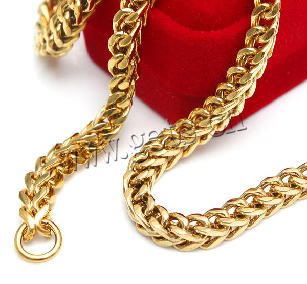 Stainless Steel Other Shape 22k Gold Chain Necklace 772208