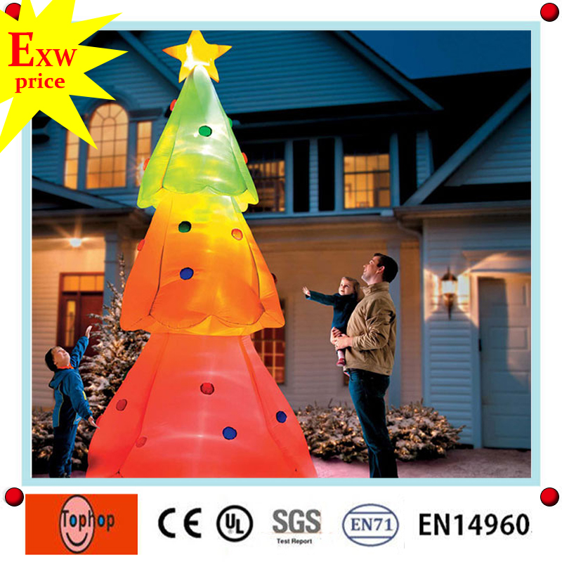 giant christmas inflatable tree repair kit, 20ft 30ft 40ft 50ft giant outdoor inflatable lighting christmas tree for sale