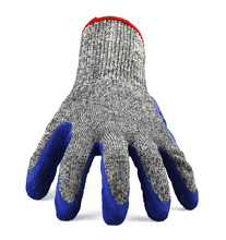 Latex Crinkled coated safety cutting puncture resistant gloves