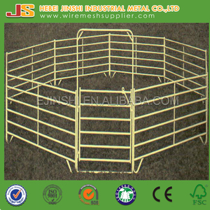 Steel Pipe Corral Fence Panels, Livestock Horse Cattle Corral Fence Panel