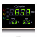 Factory price HT-2008 Wall Mount multifunctional CO2 & Temperature Humidity monitor/meter/measurer/clock